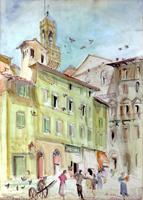 Quadro di Rodolfo Marma  Piazza Castellani