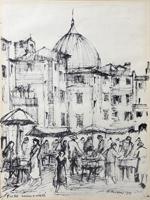 Quadro di Rodolfo Marma  Angolo di mercato