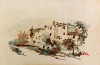 Work of Gino Tili  Case sul fiume
