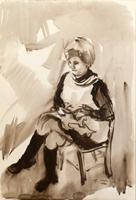 Work of Gino Tili  Nonna seduta