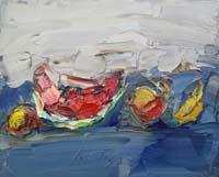 Quadro di Sergio Scatizzi - Composizione olio tavola