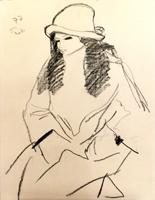Quadro di Bruno Paoli  Figura con cappello