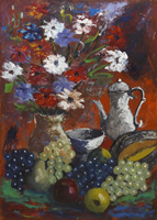 Quadro di Sauro Tasselli  Composizione con fiori