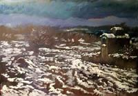 Quadro di  Luigi Pignataro - Nevicata temple -
