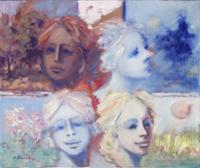 Quadro di  Umberto Bianchini - Le quattro stagioni Óleos tela