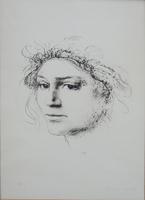 Work of Pietro Annigoni  Figura di donna