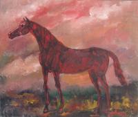 Работы  Teo Russo - Cavallo oil стол