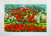 Work of Athos Faccincani  Papaveri e margherite fra gli olivi