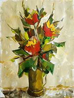 Quadro di Alviero Tatini  Vaso di fiori