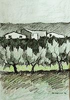 Quadro di Alviero Tatini  Paesaggio