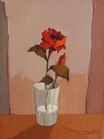 Quadro di Alviero Tatini  Vaso con rosa