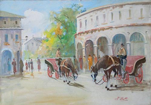 Quadro di belli piazza con cavalli for Quadri belli