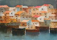 Work of Lido Bettarini  Marina con case