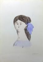 Quadro di Antonio Bueno  Volto di donna