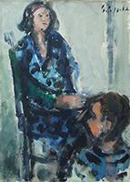 Emanuele Cappello - Figura seduta