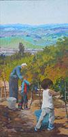 Work of Massimiliano Luschi - Vendemmia oil canvas