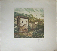 Work of firma Illeggibile - Case lithography paper