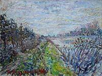 Work of Guido Borgianni - Cascine  oil canvas