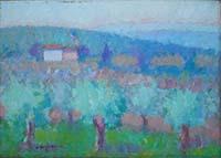 Dino Migliorini - Paesaggio con olivi