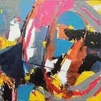 Work of Gaspare Canino - Diritto tribale oil canvas
