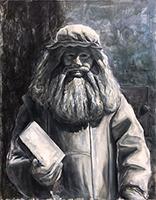 Work of Anxhela Hoxhalli - Mime oil canvas