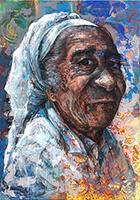 Work of Anxhela Hoxhalli - Her World mixed canvas
