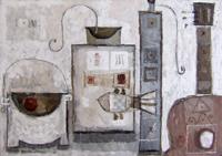 Quadro di  M. Afsane - Composizione Óleos tela