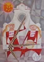 Работы  Adorno Bonciani - Concerto a S. Spirito oil картон