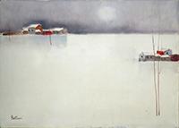 Lido Bettarini - Paesaggio con neve