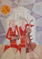 Работы  Adorno Bonciani - Concerto a S. Maria Novella oil -