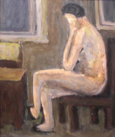 Quadro Di Carlo Maffei Nudo Seduto