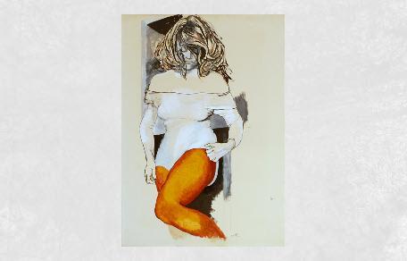<br /><br />Figura di donna con collant e body<br /><br /><em>Renato Guttuso</em>
