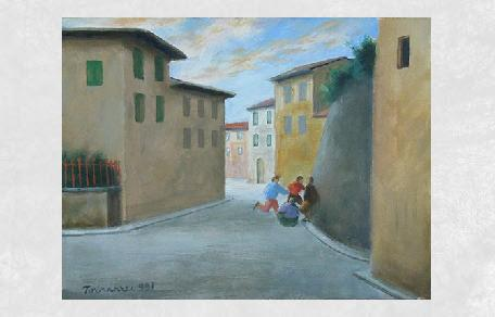 Gallerie d 39 arte firenze art vendita quadri pittori moderni for Case di tronchi contemporanei
