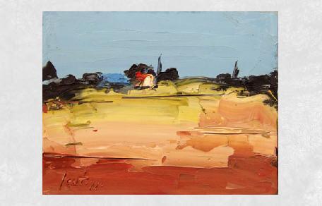 <br /><br />Paesaggio con casa<br /><br /><em>Sergio Scatizzi</em>
