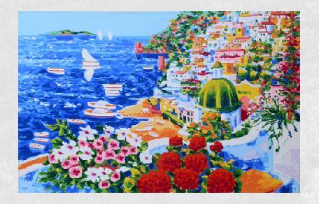 <br /><br />Racconto di primavera per una splendida Positano ( serigrafia a 36 passaggi di colore )<br /><br /><em>Athos Faccincani</em>