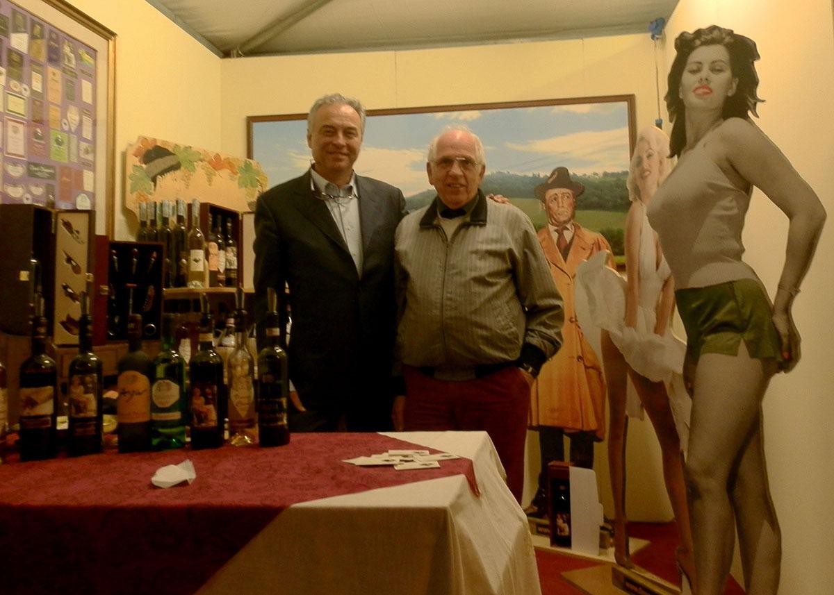 Stefano Cecconi e Andrea Tirinnanzi allo stend