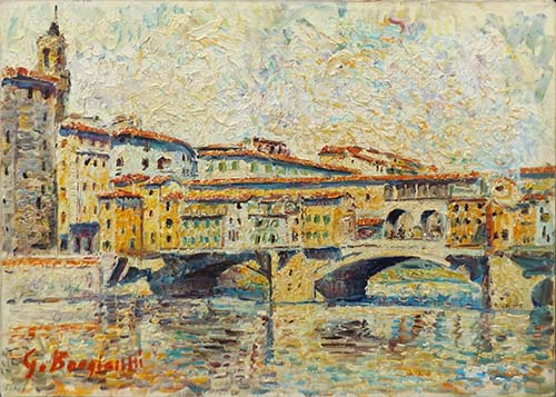 Art work by Guido Borgianni Ponte Vecchio - oil canvas