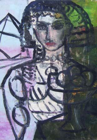 Quadro di Roberto Panichi L'egiziana - olio tela