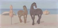 Quadro di Roberto Masi  Cavalli sul mare