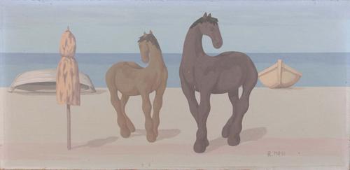 Quadro di Roberto Masi Cavalli sul mare  - olio faesite
