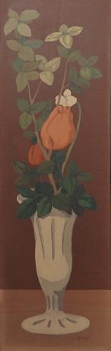 Quadro di Roberto Masi Vaso con rose - olio faesite