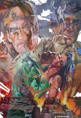 Quadro di Andrea Tirinnanzi Guerra e pace - ink jet cartone