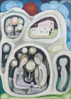 Work of Mario Gallorini - Incontro oil canvas