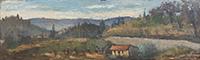 Quadro di Maurizio Martelli  - Paesaggio olio faesite