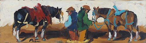 Quadro di  Pagni Riposo, olio su faesite 15 x 50 | FirenzeArt Galleria d'arte