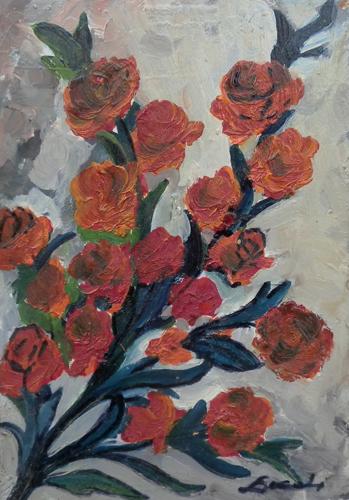 Quadro di  Locchi Rose - olio cartone