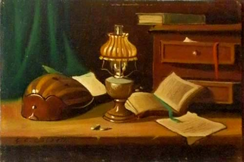 Art work by G. C. Garzelli Composizione  - oil table