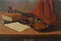 Quadro di G. C. Garzelli - Composizione  olio tavola