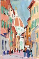 Quadro di Rodolfo Marma - Monachina e cupola  olio tavola