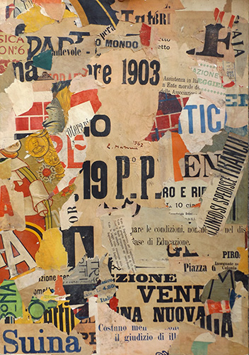 Quadro di Rodolfo Marma Manifesto  - collage carta